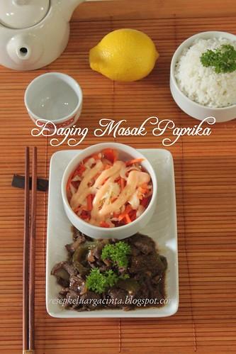 Daging Masak Paprika a la Keluarga Cinta