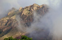 before the drought... (spysgrandson) Tags: mist mountain clouds texas sony elpaso sonycybershot franklinmountains potofgold sgs mountaininclouds spysgrandson southmountfranklin