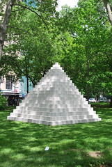 Pyramid (Munster), 1987 (thoth1618) Tags: park nyc newyorkcity ny newyork art sol public concrete downtown cityhall manhattan parks structures structure blocks block gothamist publicart cityhallpark munster lewitt fund photooftheday concreteblock nycparks publicartfund concreteblocks structures19652006