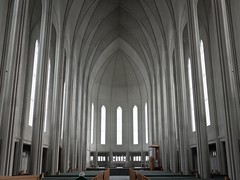 Hallgrímskirkja (Magic Pea) Tags: windows man geometric church lines photography photo iceland angles reykjavik lutheran pews hallgrímskirkja hallgrímur magicpea