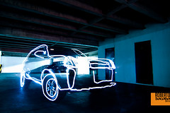 Speed of light (Roberto Sacasa) Tags: light luz car paint tucson guatemala carro roberto hyundai con pintar guate sacasa