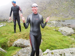 After a dip in Llyn Llyffant
