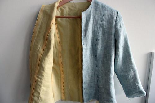 linen jacket inside