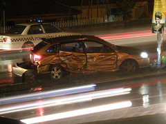 Kia Rio Damaged In An Accident @ Malaysia