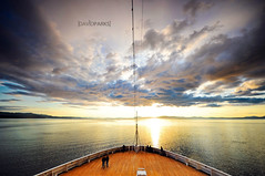 New Ship (David Parks - davidparksphotography.com) Tags: ocean cruise sunset sky sun david set alaska clouds boat nikon ship gulf parks d700