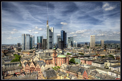 Frankfurt Am Main (raktargy) Tags: skyline nikon hdr frankfurtammain rmerberg maintower photomatix eurotower d300s commerzrbanktower
