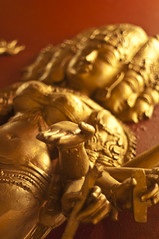 The hand of god (Menetnasht) Tags: india statue bronze temple 50mm gold pentax karnataka mangalore kudroli k20d