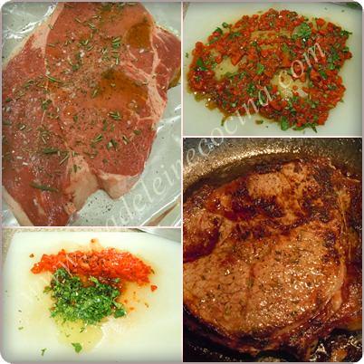 Cocinando la carne