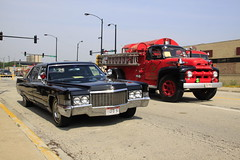 Two Classics (Susanne Peters (aka Cyber)) Tags: chicago ford illinois cadillac muster chicagofiredepartment chicagofireacademy 511clubofchicago