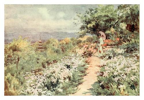 004-Un jardin en una ladera de Tokio-Japanese gardens 1912-Walter Tyndale