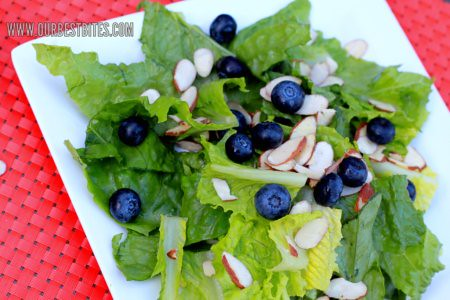 blueberries and almonds