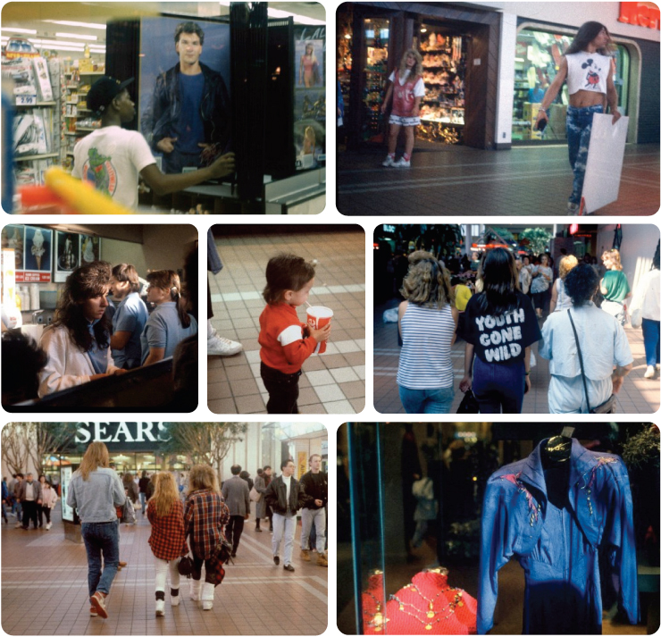 American shopping malls in the 1990's