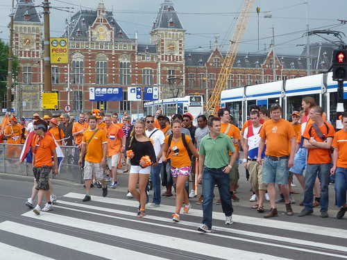 Celebrating the World Cup Finals in Amsterdam