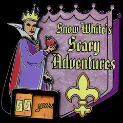 Snow White's Scary Adventures Pin, 2010 (Filmic Light) Tags: disneyland disney snowwhite sevendwarfs wickedwitch evilqueen disneypin scaryadventures