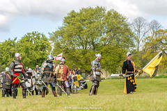 [2014-04-19@15.10.57a] (Untempered Photography) Tags: history costume flag helmet battle medieval weapon sword knight shield armour reenactment combatant chainmail canonef50mmf14 perioddress platearmour gambeson mailarmour untemperedeye canoneos5dmkiii untemperedeyephotography glastonburymedievalfayre2014