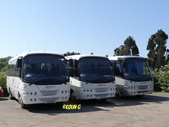 Signature 2,1 & 7 (Coco of Jersey) Tags: uk bus islands signature cannon toyota jersey coaster channel caetano coaches optimo lcv