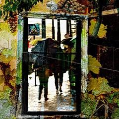 Fall Memories (Tango&Cash) Tags: people window rain collage umbrella manipulated czech prague ipad