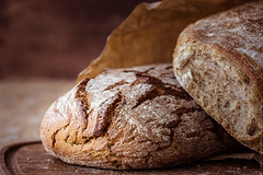 rustic bread (locrifa) Tags: wood food brown kitchen bread recipe table countryside wooden healthy picnic natural cut background wheat traditional rustic fresh rye whole eat health homemade bakery snack meal cutting farmer organic loaf piece bake hearty