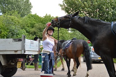 horse & rider coke cola (haywardk49) Tags: road park uk trees england horses horse woman girl car laughing truck out advertising photo day cola photos britain country picture coke laugh rest jpg resting van rider picup dayout