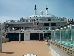 QM2 deck (pburka) Tags: ocean boat ship queenmary qm2 cunard liner