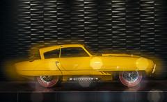 1952 Pegaso Z-102 ( Wim ) Tags: 1952pegasoz102 loumanmuseum netherlands denhaag multipleexposure nikon spanishclassiccar yellow design retro