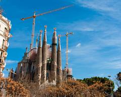 Barcelona (Roger Hanuk) Tags: art artnouveau barcelona belltower cathedral crane gaudi religiousbuilding sagradafamlia spain catalonia