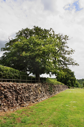 Roman wall, Caerleon by Helen in Wales