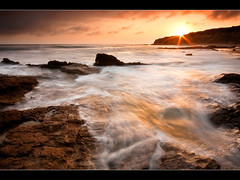 1 minute till sunset (kevin hinson) Tags: california sunset color beach water la whitewater crystal cove