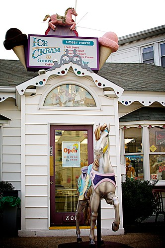 The Hobby Horse ice cream shop.
