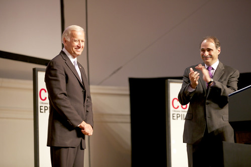 Vice President Joe Biden and David Axelrod