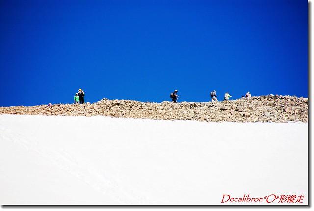 稜線上的登山客