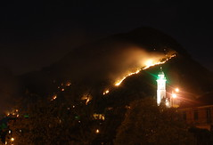 Bavari in fiamme (RobbiSaet) Tags: italy mountains alps nature night montagne fire nikon europa europe italia nightlights liguria natura genoa genova alpi notte fuoco bavari lucinotturne d80 robbisaet robertasaettone
