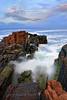 Into The Sea (Didenze) Tags: longexposure travel sea seaside rocks europe wave bulgaria splash blacksea sozopol didenze