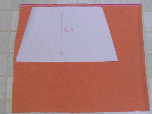 lay out on fabric
