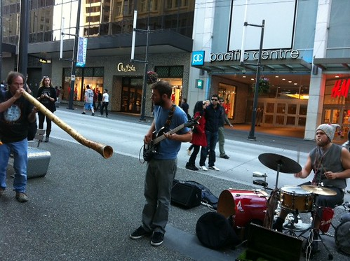 Buskers rocking out :) on Granville near Georgia