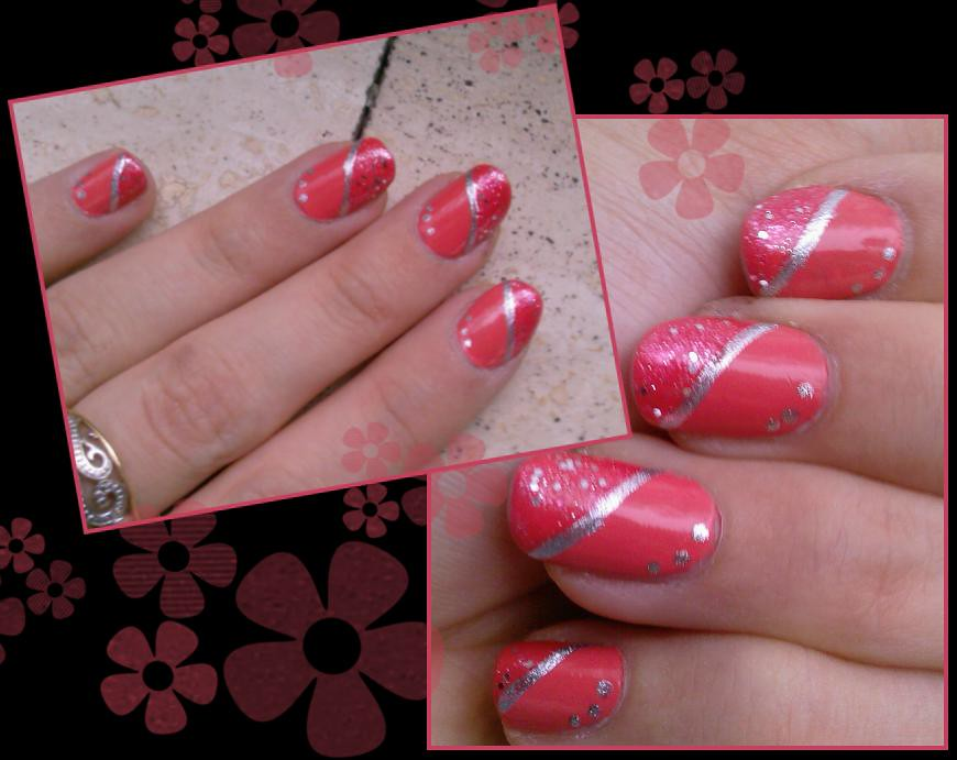 Déco ongles corail