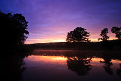 Sunset on the Lake (dview.us) Tags: trees sunset sky lake clouds afterthestorm alabama ashville ashvilleal