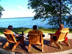 Loungin' (Bubbles) Tags: friends lake nature beautiful evening relaxing calm serenity lounging 365