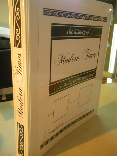 Notebook Timeline Cover and Spine