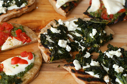 kale goat cheese pizza 5