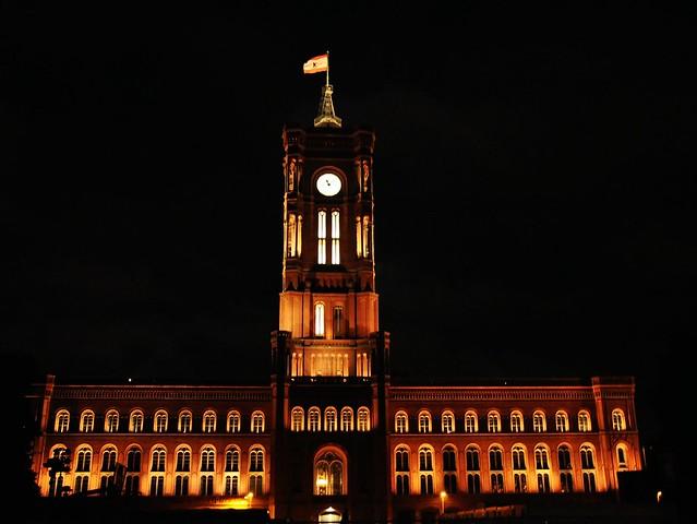 Alexanderplatz Berlin 亚历山大广场 市政厅 Rotes Rathaus