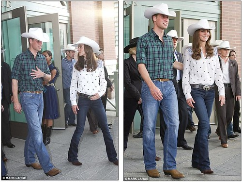 Wild Will Hickock and Calamity Kate cause a stampede as they don matching hats and get into the cowboy spirit   3