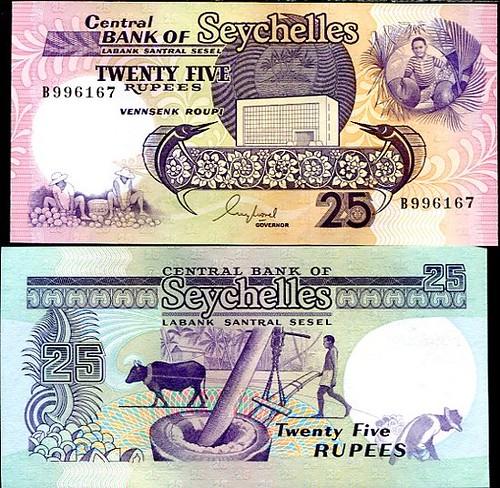 25 Rupií Seychely 1989, Pick 29