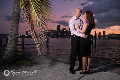 Miami engagement Photography (Ryan Merrill) Tags: ocean city bridge wedding water fountain skyline engagement couple downtown miami coralgables intercoastalwaterway weddingphotography ryanmerrill westpalmbeachweddingphotographer southfloridaweddingphotography