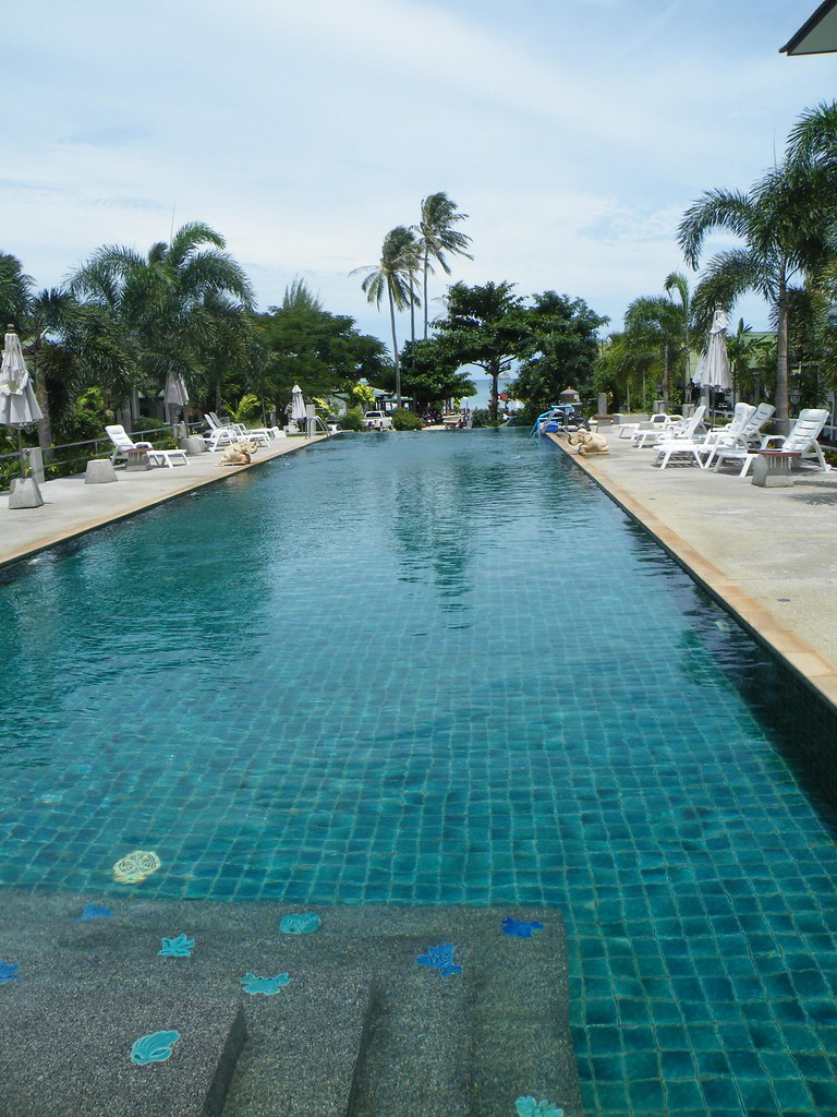Pool at Choeng Mon Beach Hotel, Ko Samui, Thailand
