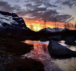 midnight in Grøtfjord