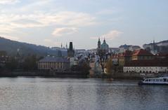 Prague (goxuu) Tags: blue architecture europe view prague praha czechrepublic charlesbridge