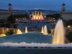 Barcelona (Lucian Simionesei) Tags: barcelona fountain lights spain espana catalunya piata spania lumini fantani spaniei pracadespana