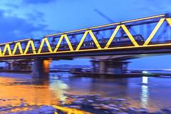 Follow K7016 () Tags: china bridge blue heilongjiang digital train nikon eisenbahn railway zug locomotive  fx brcke harbin ferrocarril ferrovia     d600      chinarailway       chinatrain