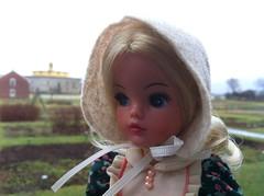 (6) Heading to the Garden Shed (Foxy Belle) Tags: garden early village american shaker hancock bonnet pedigree primitive sindy